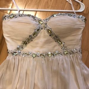 Cream high low cocktail dress size small